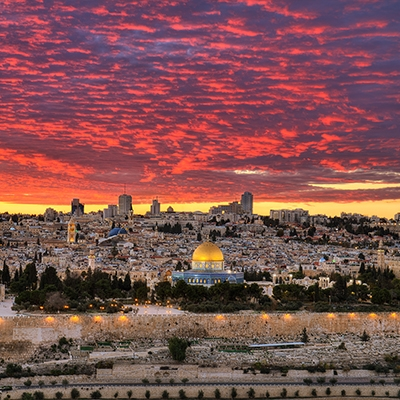 Glorious Sunset Over Jerusalem