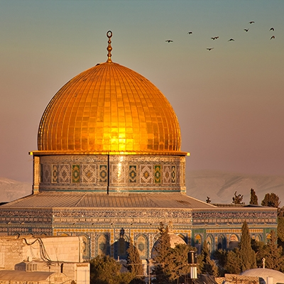 Dome of The Rock at Sundown